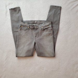 7 for all Mankind Grey Skinny Jeans, 29
